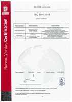 Certifikát jakosti ISO 9001:2015 - CZ<BR>Platí do 28.5.2020