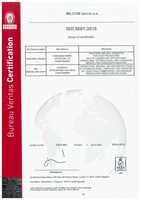Certifikát jakosti ISO 9001:2015 - EN<BR>Platí do 28.5.2020